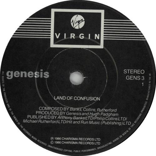 """Genesis Land Of Confusion 7"""" vinyl single (7 inch record) UK GEN07LA654305"""