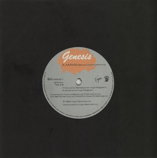 "Genesis Mama 7"" vinyl single (7 inch record) UK GEN07MA42595"