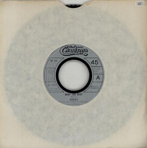 "Genesis Many Too Many - Jukebox 7"" vinyl single (7 inch record) UK GEN07MA42620"