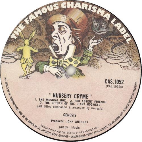 Genesis Nursery Cryme - 2nd - Smooth vinyl LP album (LP record) UK GENLPNU742543
