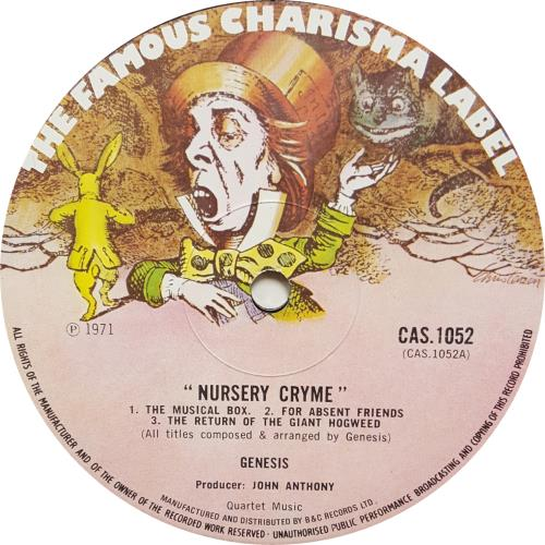 Genesis Nursery Cryme - Large Madhatter vinyl LP album (LP record) UK GENLPNU256711