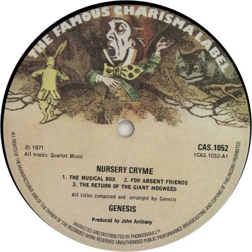 Genesis Nursery Cryme - Small Mad Hatter - Phonogram - EX vinyl LP album (LP record) UK GENLPNU257589