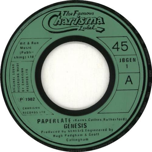 "Genesis Paperlate - Jukebox 7"" vinyl single (7 inch record) UK GEN07PA707716"