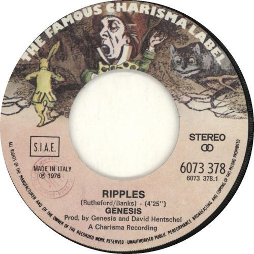 "Genesis Ripples 7"" vinyl single (7 inch record) Italian GEN07RI24538"