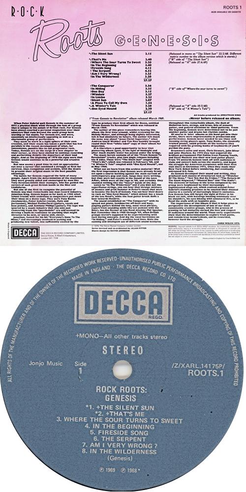 Genesis Rock Roots vinyl LP album (LP record) UK GENLPRO78245