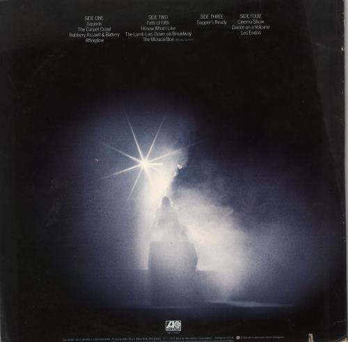 Genesis Seconds Out 2-LP vinyl record set (Double Album) US GEN2LSE721876