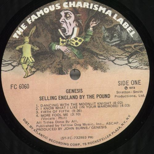 Genesis Selling England By The Pound - DJ Promo vinyl LP album (LP record) US GENLPSE718856