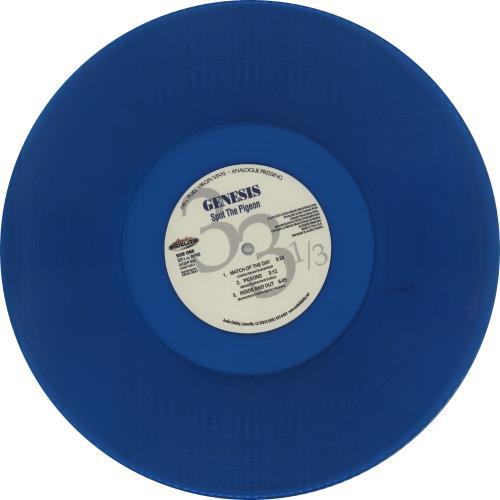 "Genesis Spot The Pigeon EP - Blue Vinyl 12"" vinyl single (12 inch record / Maxi-single) US GEN12SP657018"