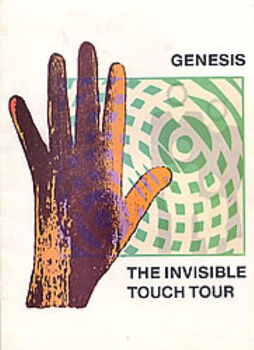 Genesis The Invisible Touch Tour tour programme UK GENTRTH278930