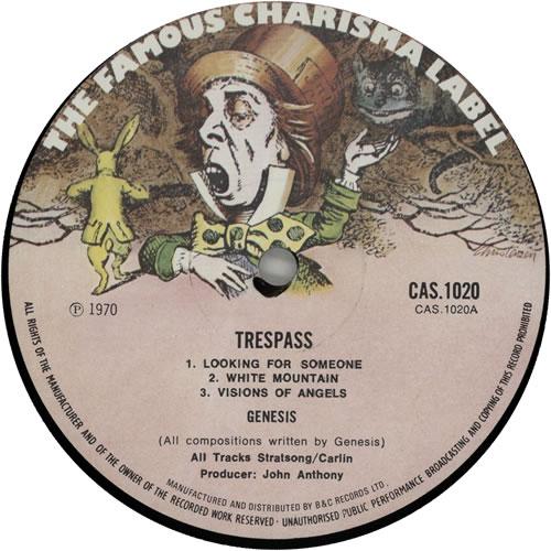 Genesis Trespass - 2nd - Textured vinyl LP album (LP record) UK GENLPTR640367