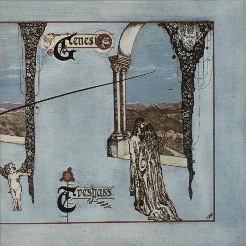 Genesis Trespass - Blue Label vinyl LP album (LP record) UK GENLPTR620183