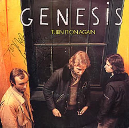 "Genesis Turn It On Again - Autographed 7"" vinyl single (7 inch record) Dutch GEN07TU278985"