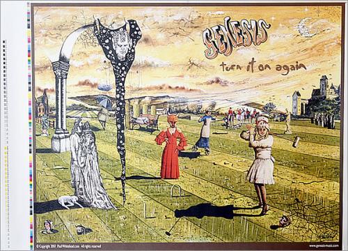 Genesis Turn It On Again 2007 - Printer Proof artwork UK GENARTU444945