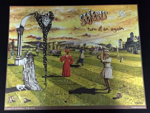 Genesis Turn It On Again poster UK GENPOTU652626