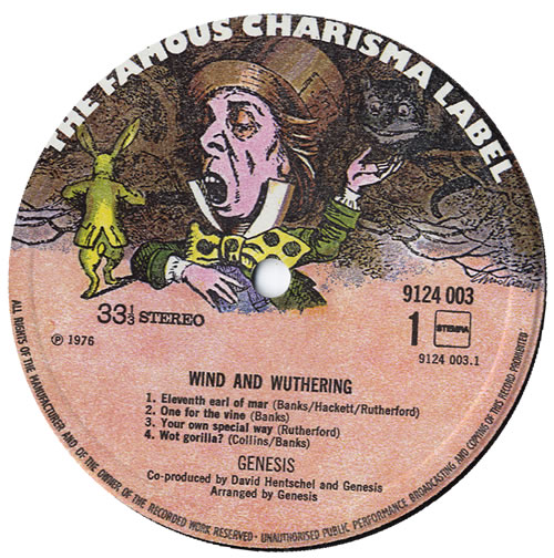 Genesis Wind & Wuthering vinyl LP album (LP record) Dutch GENLPWI550525