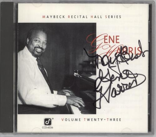 Gene Harris At Maybeck - Autographed CD album (CDLP) US GEHCDAT712205