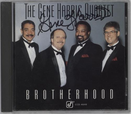 Gene Harris Brotherhood - Autographed CD album (CDLP) US GEHCDBR712204