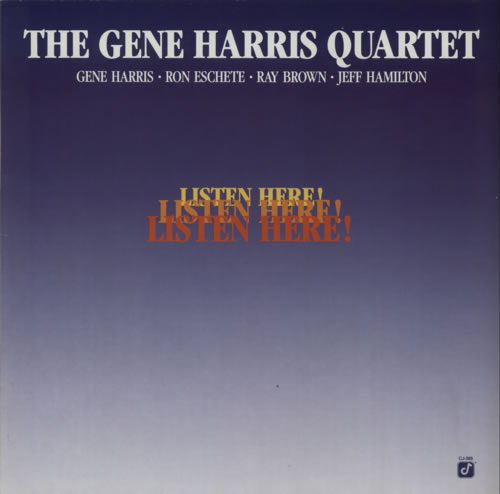 Gene Harris Listen Here! vinyl LP album (LP record) German GEHLPLI607959