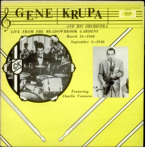 Gene Krupa Live From Meadowbrook Gardens & Navy Show vinyl LP album (LP record) US GEKLPLI546370