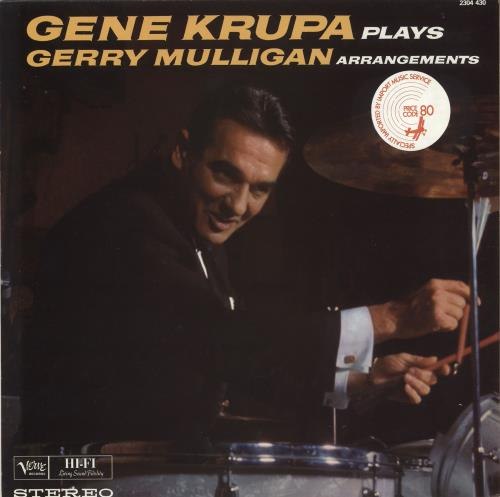 Gene Krupa Plays Gerry Mulligan Arrangements vinyl LP album (LP record) French GEKLPPL724237