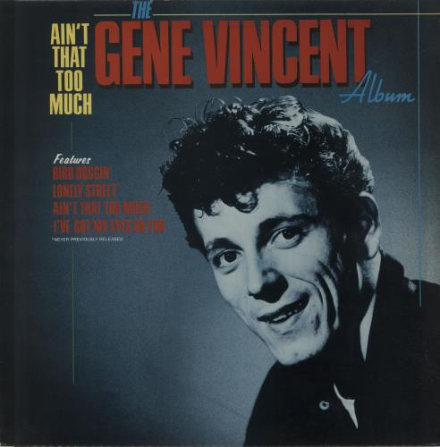 Gene Vincent Ain't That Too Much vinyl LP album (LP record) UK GNVLPAI675114