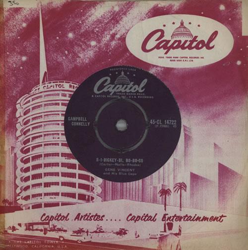 """Gene Vincent B-I-Bickey-Bi, Bo-Bo-Go 7"""" vinyl single (7 inch record) UK GNV07BI570228"""