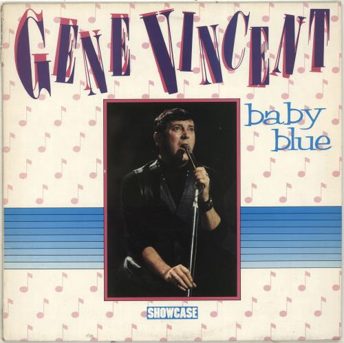 Gene Vincent Baby Blue vinyl LP album (LP record) UK GNVLPBA704493
