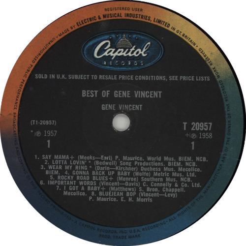 Gene Vincent Best Of Gene Vincent - EX vinyl LP album (LP record) UK GNVLPBE471782