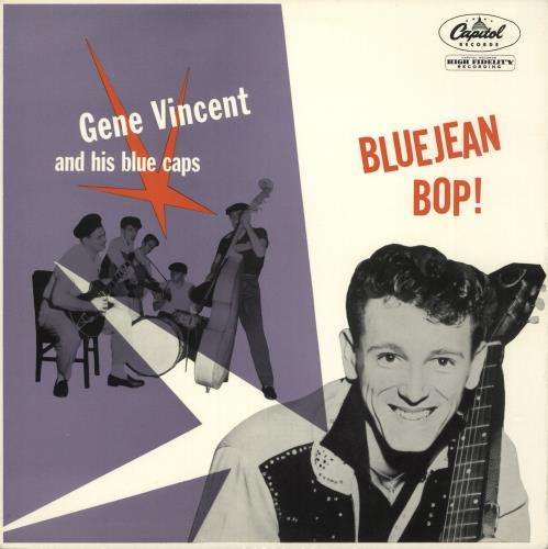 Gene Vincent Bluejean Bop! - Rainbow Rim vinyl LP album (LP record) UK GNVLPBL529051