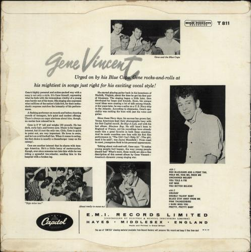 Gene Vincent Gene Vincent And The Blue Caps - 1st - VG vinyl LP album (LP record) UK GNVLPGE710893
