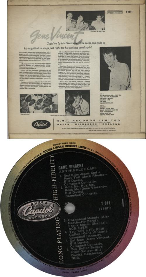 Gene Vincent Gene Vincent And The Blue Caps - Rainbow Rim vinyl LP album (LP record) UK GNVLPGE604735