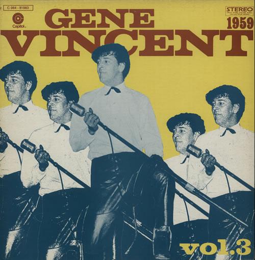 Gene Vincent Gene Vincent Story Vol. 3 [1959] vinyl LP album (LP record) French GNVLPGE635166