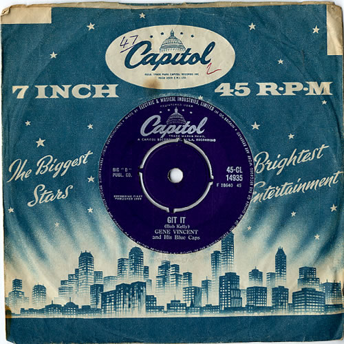 "Gene Vincent Git It - VG 7"" vinyl single (7 inch record) UK GNV07GI607832"