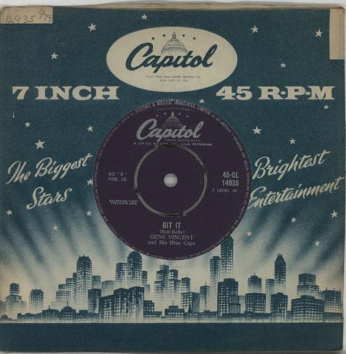 "Gene Vincent Git It 7"" vinyl single (7 inch record) UK GNV07GI612768"