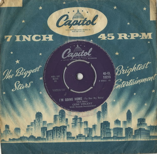 """Gene Vincent I'm Going Home (To See My Baby) 7"""" vinyl single (7 inch record) UK GNV07IM511611"""