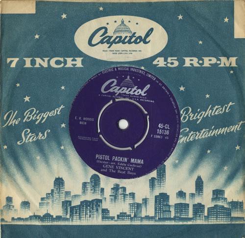 "Gene Vincent Pistol Packin' Mama 7"" vinyl single (7 inch record) UK GNV07PI546591"