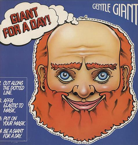 Gentle Giant Giant For A Day + Insert & Inner - EX vinyl LP album (LP record) UK GTLLPGI133588