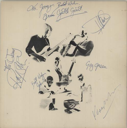 Gentle Giant In A Glass House - Autographed vinyl LP album (LP record) UK GTLLPIN622175