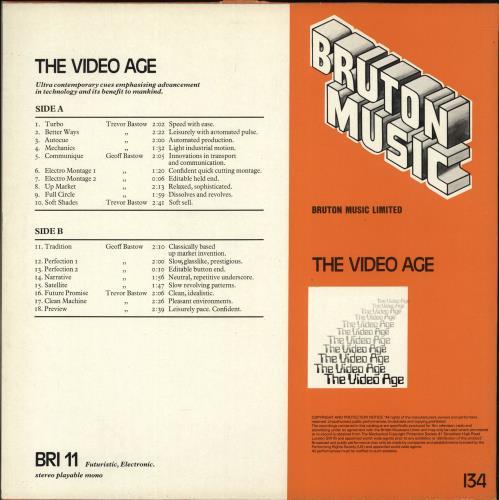 Geoff Bastow The Video Age UK vinyl LP album (LP record) (690259)
