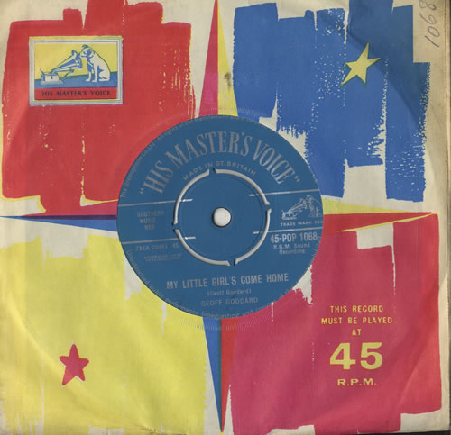 "Geoff Goddard My Little Girl's Come Home 7"" vinyl single (7 inch record) UK GG907MY572253"