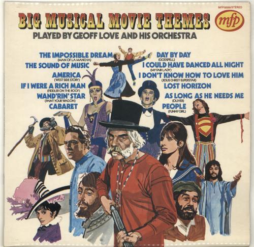 Geoff Love Big Musical Movie Themes vinyl LP album (LP record) UK GL0LPBI691305