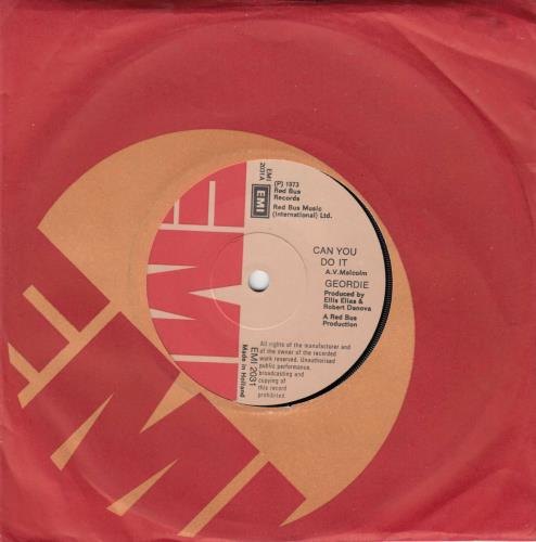 "Geordie Can You Do It 7"" vinyl single (7 inch record) Dutch GDI07CA61233"
