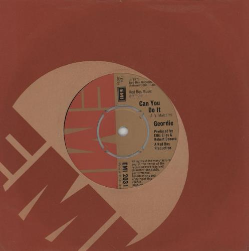 """Geordie Can You Do It 7"""" vinyl single (7 inch record) UK GDI07CA755523"""