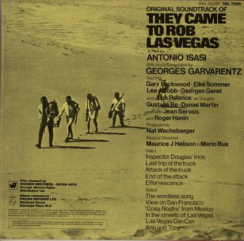 Georges Garvarentz They Came To Rob Las Vegas Uk Vinyl Lp