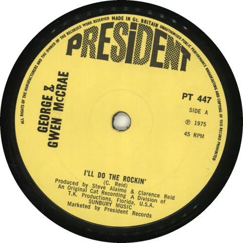 "George & Gwen McCrae I'll Do The Rockin' 7"" vinyl single (7 inch record) UK GK307IL689566"