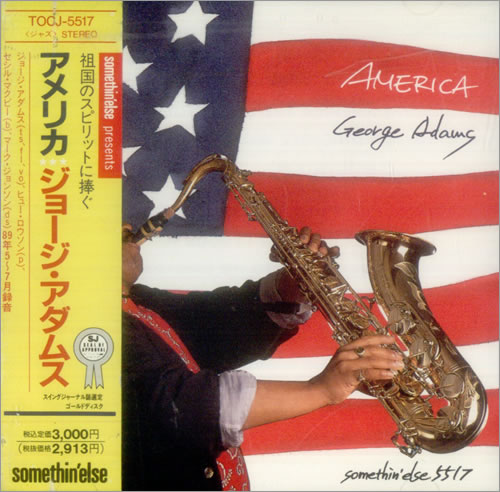 George Adams America CD album (CDLP) Japanese 1GACDAM542904
