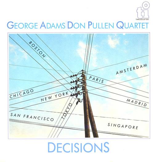 George Adams Decisions vinyl LP album (LP record) Dutch 1GALPDE551416