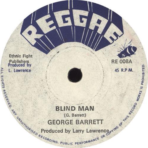"George Barrett Blind Man 7"" vinyl single (7 inch record) UK ZFO07BL713240"