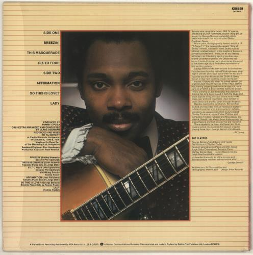 George Benson Breezin' + Shrinkwrap vinyl LP album (LP record) UK GBELPBR726883