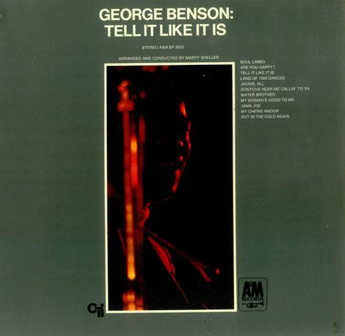 George Benson Tell It Like It Is vinyl LP album (LP record) US GBELPTE446968